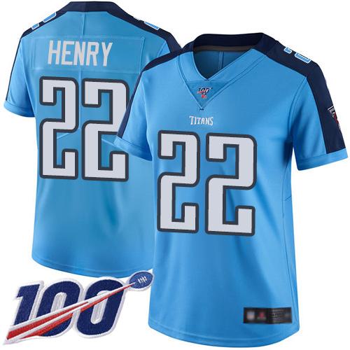 cheap jerseys near me Women\'s Tennessee Titans #22 Derrick Henry ...